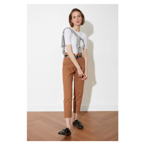 Trendyol Brown Belt Pants
