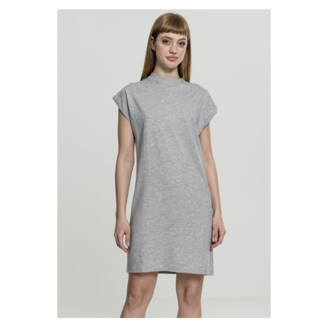 Ladies Turtle Extended Shoulder Dress - grey Urban Classics