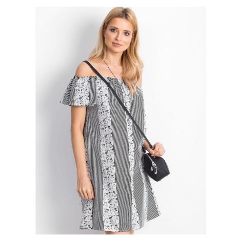 Patterned black and white Spanish dress Fashionhunters