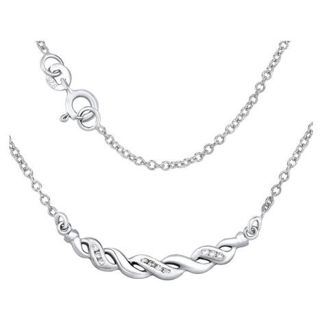 Silvego Stříbrný náhrdelník ASPEN se zirkony ZTJ41031