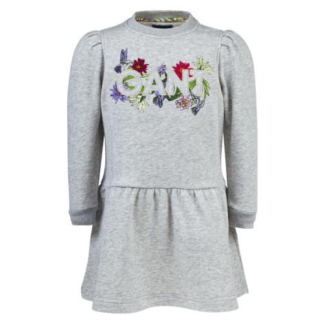 ŠATY GANT D1. FLOWER LOGO SWEAT DRESS