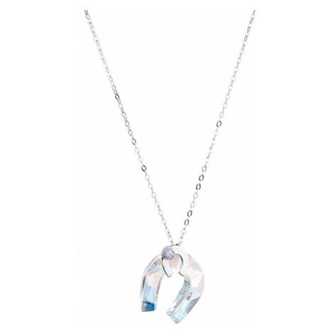 Preciosa Stříbrný náhrdelník s třpytivou podkovou Felicity 56S
