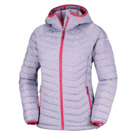 Columbia POWDER LITE HOODED JACKET fialová - Dámská zimní bunda