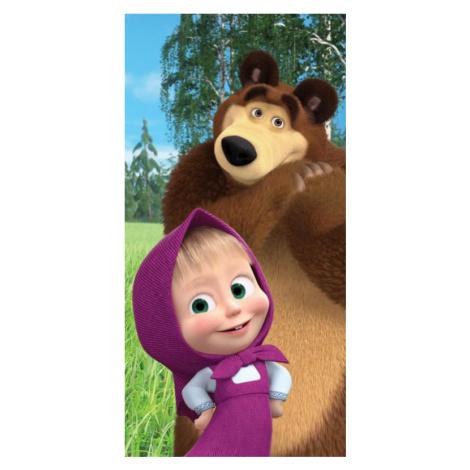 Osuška Máša a Medvěd 050 70x140 cm   dle fotky   Jerry Fabrics