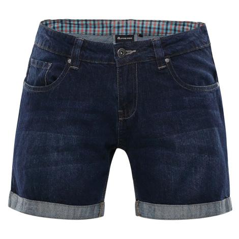 Dámské džínové šortky Alpine Pro GERYGA - tmavě modrá