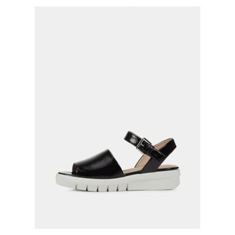 Černé dámské sandály na platformě Geox Wimbley