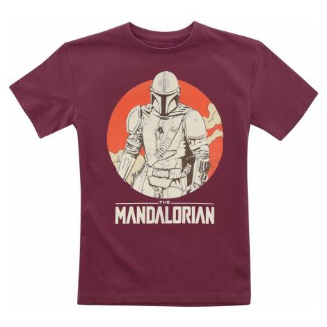 Star Wars Kids - The Mandalorian detské tricko bordová