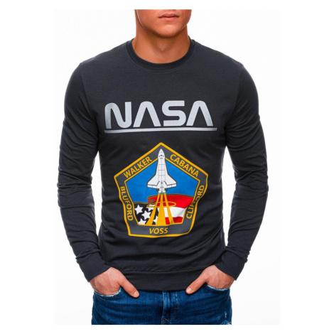 Inny Tmavě šedá mikina bez kapuce NASA B1272