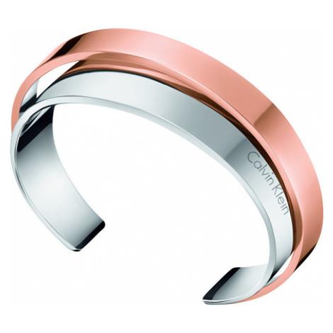 Calvin Klein Otevřený ocelový bicolor náramek Unite KJ5ZPF2001 5,8 x 4,6 cm