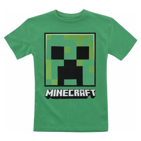 Minecraft Creeper Face detské tricko zelená