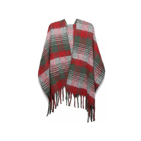 Kono Luxusní módní teplá dámská dlouhá šála S6429 červená ruznobarevne