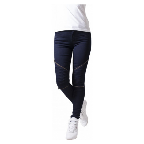 Urban Classics Ladies Stretch Biker Pants dark denim