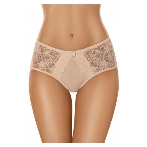 Gabidar Bavlněné dámské kalhotky s krajkou 101 béžové