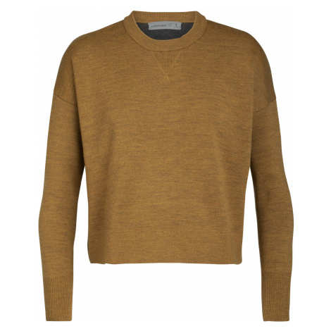 Dámské svetr ICEBREAKER Wmns Carrigan Sweater Sweatshirt, SAFFRON HTHR Icebreaker Merino