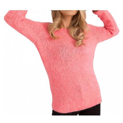 Neonově růžový dámský svetřík