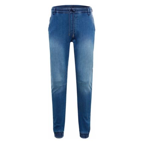 Urban Classics Džíny 'Knitted Denim Jogpants' modrá