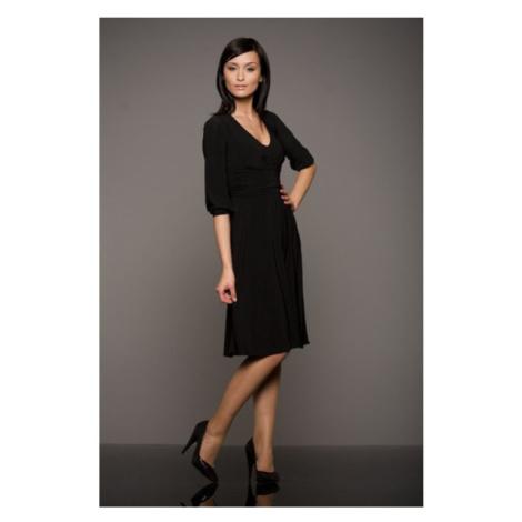 NIFE šaty dámské S01 3/4 rukáv černé
