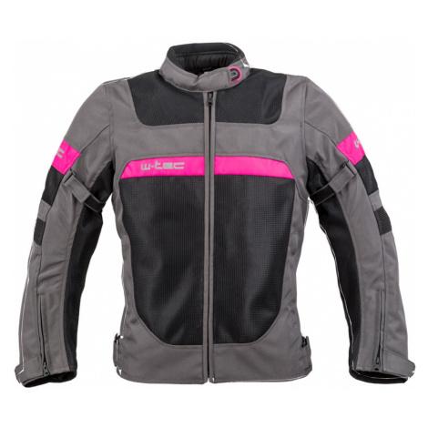 Dámská Letní Moto Bunda W-Tec Monaca Black Mesh-Pink