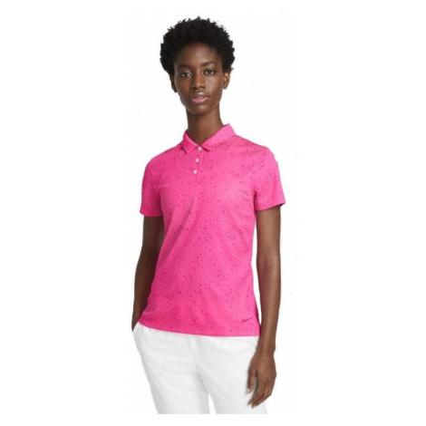 Dámské tričko Nike Printed Golf Polo Růžová