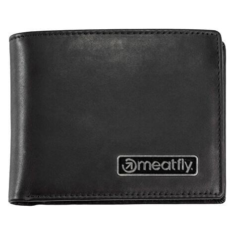 Meatfly Pánská kožená peněženka Pitfall Black