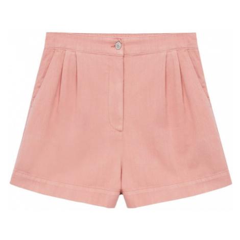 MANGO Kalhoty se sklady v pase 'RUSTIC' růžová