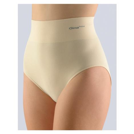 GINA Dámské kalhotky klasické se širokým bokem 00036-LBH tělová