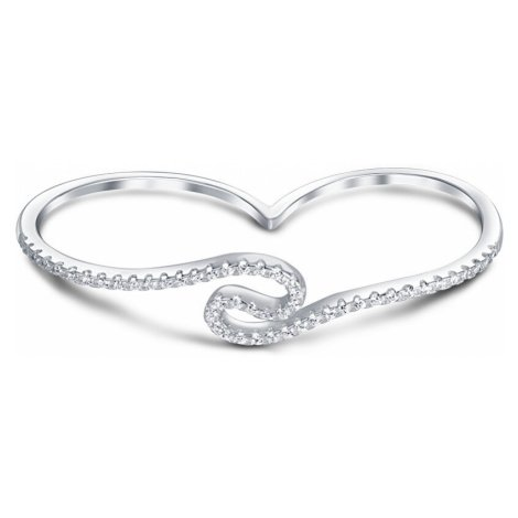 JVD Dvojitý stříbrný prsten s krystaly SVLR14975
