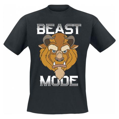 Kráska a zvíře Beast Mode! tricko černá