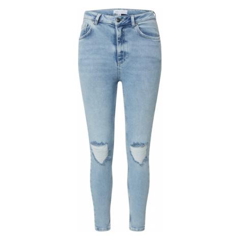 NU-IN Džíny 'High Rise Distressed Skinny Jeans' modrá džínovina