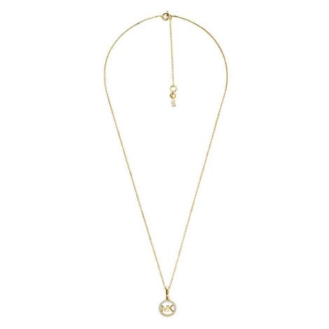 Michael Kors Pozlacený náhrdelník s třpytivým přívěskem MKC1108AN710 (řetízek, přívěsek)