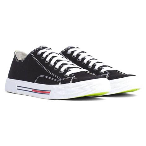 Tommy Jeans pánské černé plátěné tenisky Tommy Hilfiger