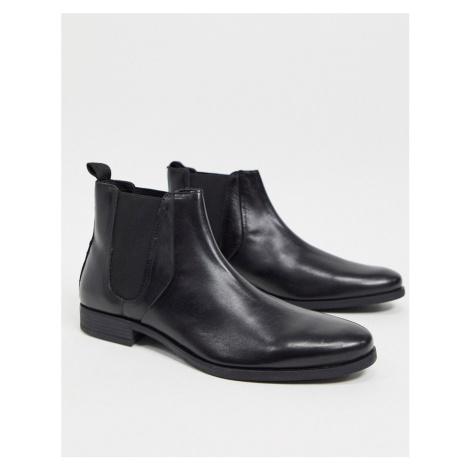 Dune chelsea ankle boots in black leather