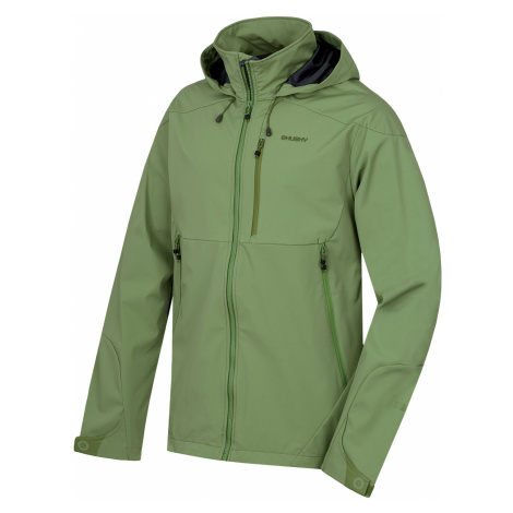 Husky Sauri M, tm.zelená Pánská softshellová bunda