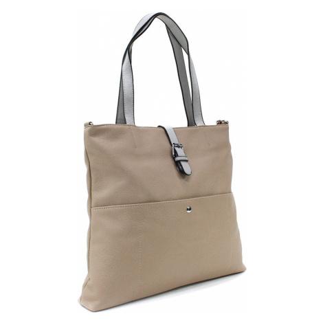 Béžová elegantní velká dámská kabelka Moreen L a H - Miss Moda (PL)