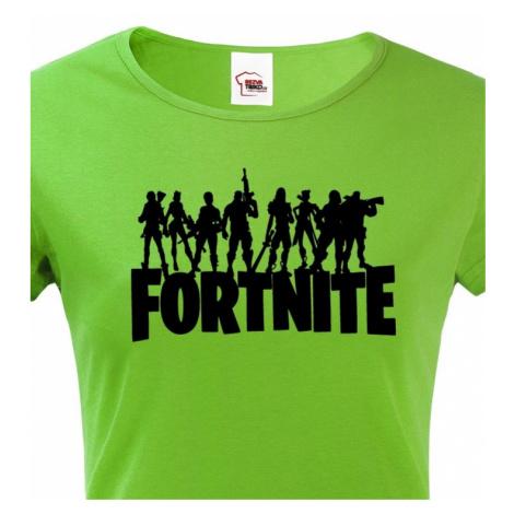 Dámské tričko s potiskem hry Fortnite - ideální pro malé hráče BezvaTriko