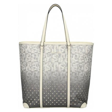 Dámská kabelka Sisley Brenda - šedo-bílá