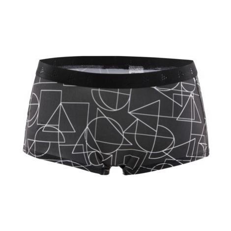 Dámské boxerky CRAFT Greatness Waistband černá s potiskem