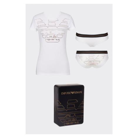 Emporio Armani Underwear Emporio Armani dárkové balení tričko + kalhotky - bílá