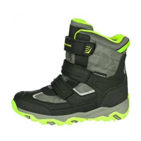 ALPINE PRO ACACIO Dětská zimní obuv KBTM178564 Sulphur spring