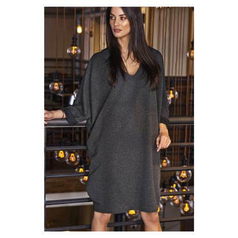 """Oversize bavlněné šaty volné ve stylu """"balón"""" se širokými rukávy Numinou"""