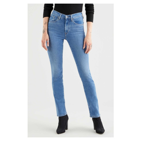 Levi´s® jeans 724 High Rise Straight Rio Frost dámské modré