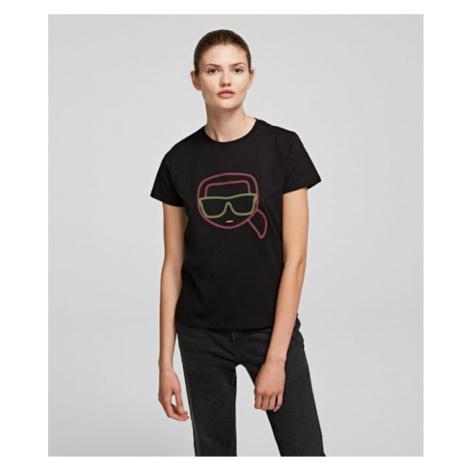 Tričko Karl Lagerfeld Ikonik Karl Face T-Shirt - Černá