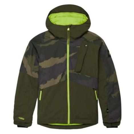 O'Neill PB APLITE JACKET tmavě zelená - Chlapecká lyžařská/snowboardová bunda