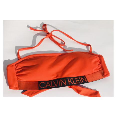 Dámské plavky Calvin Klein KW0KW00552 podprsenka | oranžová