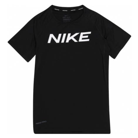 NIKE Funkční tričko 'Pro' bílá / černá