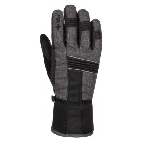 Zimní lyžařské rukavice KILPI GRANT-U tmavě šedá