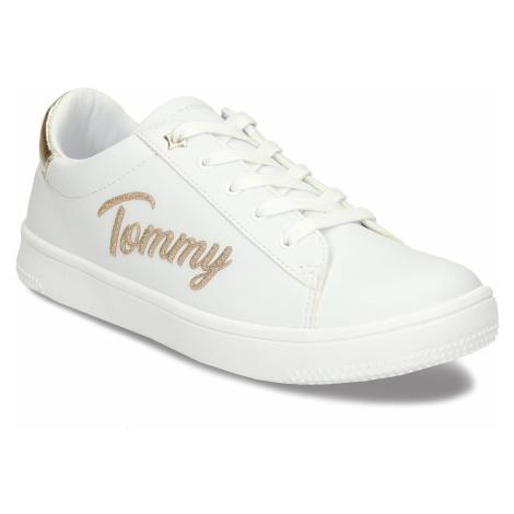Bílé dětské tenisky se zlatými detaily Tommy Hilfiger