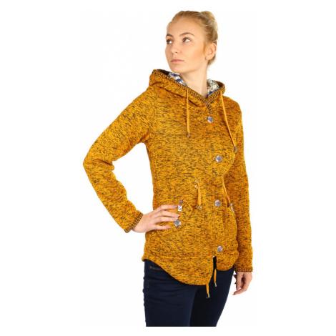 Dámská zateplená žíhaná bunda s kapucí