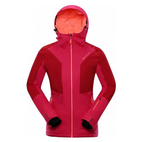 Dámská lyžařská bunda Alpine Pro MIKAERA 3 - růžovo-červená