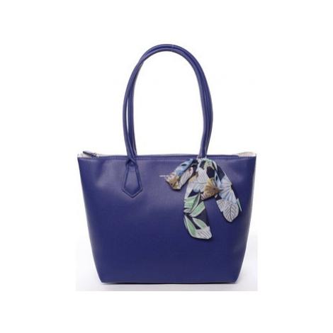 David Jones Velká dámská kabelka přes rameno modrá - Lowe Modrá